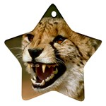 Cheetah Ornament (Star)