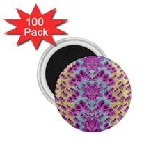 Climbing And Loving Beautiful Flowers Of Fantasy Floral 1 75  Magnets (100 Pack)