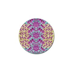 Climbing And Loving Beautiful Flowers Of Fantasy Floral Golf Ball Marker by pepitasart
