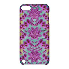 Climbing And Loving Beautiful Flowers Of Fantasy Floral Apple Ipod Touch 5 Hardshell Case With Stand