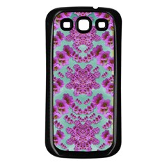 Climbing And Loving Beautiful Flowers Of Fantasy Floral Samsung Galaxy S3 Back Case (black)