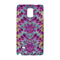 Climbing And Loving Beautiful Flowers Of Fantasy Floral Samsung Galaxy Note 4 Hardshell Case by pepitasart