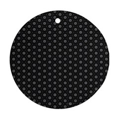 Geometric Pattern Dark Ornament (round)
