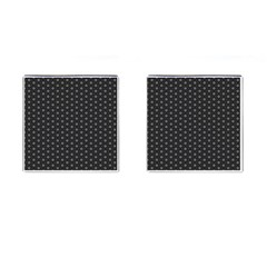 Geometric Pattern Dark Cufflinks (square)