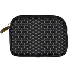 Geometric Pattern Dark Digital Camera Cases