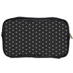 Geometric Pattern Dark Toiletries Bags 2 Side