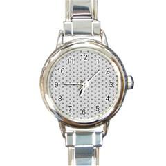 Geometric Pattern Light Round Italian Charm Watch