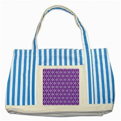 Jess Violet Striped Blue Tote Bag