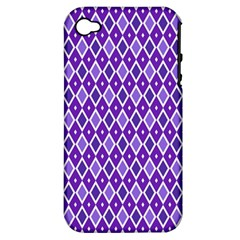 Jess Violet Apple Iphone 4/4s Hardshell Case (pc+silicone)