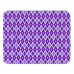 Jess Violet Double Sided Flano Blanket (large)