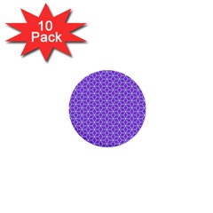 Lavender Tiles 1  Mini Buttons (10 Pack)  by jumpercat