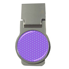Lavender Tiles Money Clips (round)