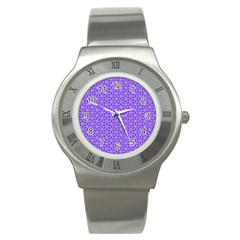Lavender Tiles Stainless Steel Watch by jumpercat