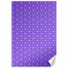 Lavender Tiles Canvas 12  X 18   by jumpercat