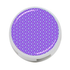 Lavender Tiles 4 Port Usb Hub (one Side)