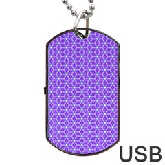 Lavender Tiles Dog Tag Usb Flash (two Sides)