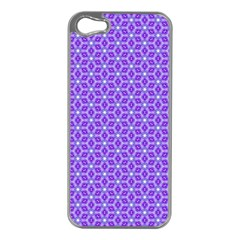 Lavender Tiles Apple Iphone 5 Case (silver)