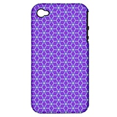 Lavender Tiles Apple Iphone 4/4s Hardshell Case (pc+silicone)