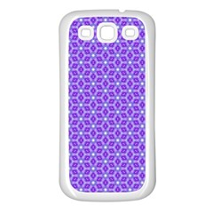 Lavender Tiles Samsung Galaxy S3 Back Case (white)