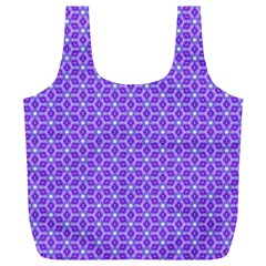 Lavender Tiles Full Print Recycle Bags (l)  by jumpercat