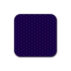 Dark Tech Fruit Pattern Rubber Coaster (square)