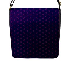 Dark Tech Fruit Pattern Flap Messenger Bag (l)