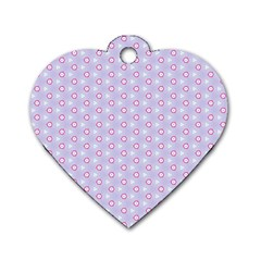 Light Tech Fruit Pattern Dog Tag Heart (two Sides)