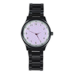 Light Tech Fruit Pattern Stainless Steel Round Watch