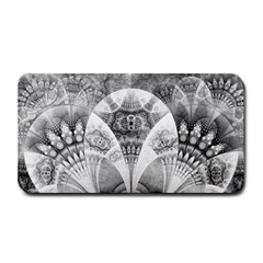 Black And White Fanned Feathers In Halftone Dots Medium Bar Mats