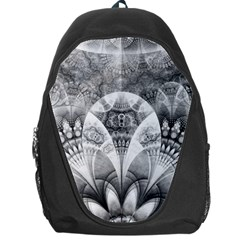 Black And White Fanned Feathers In Halftone Dots Backpack Bag