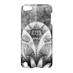Black And White Fanned Feathers In Halftone Dots Apple Ipod Touch 5 Hardshell Case