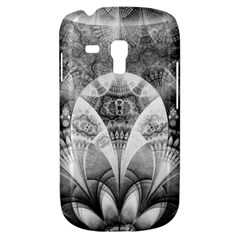 Black And White Fanned Feathers In Halftone Dots Galaxy S3 Mini