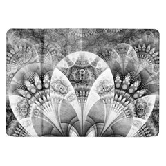 Black And White Fanned Feathers In Halftone Dots Samsung Galaxy Tab 10 1  P7500 Flip Case