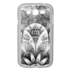 Black And White Fanned Feathers In Halftone Dots Samsung Galaxy Grand Duos I9082 Case (white)