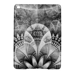 Black And White Fanned Feathers In Halftone Dots Ipad Air 2 Hardshell Cases