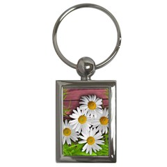 Flowers Flower Background Design Key Chains (rectangle)