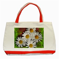 Flowers Flower Background Design Classic Tote Bag (red) by Sapixe