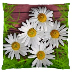 Flowers Flower Background Design Large Cushion Case (two Sides)