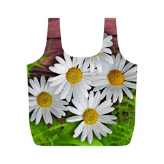 Flowers Flower Background Design Full Print Recycle Bags (m)