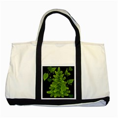 Decoration Green Black Background Two Tone Tote Bag