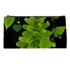 Decoration Green Black Background Pencil Cases