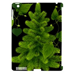 Decoration Green Black Background Apple Ipad 3/4 Hardshell Case (compatible With Smart Cover)