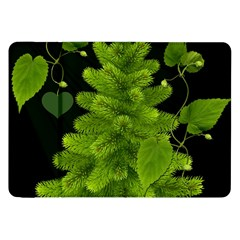 Decoration Green Black Background Samsung Galaxy Tab 8 9  P7300 Flip Case
