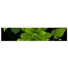 Decoration Green Black Background Small Flano Scarf