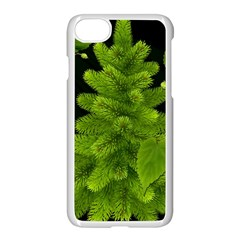 Decoration Green Black Background Apple Iphone 7 Seamless Case (white)
