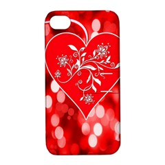Love Romantic Greeting Celebration Apple Iphone 4/4s Hardshell Case With Stand