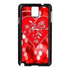 Love Romantic Greeting Celebration Samsung Galaxy Note 3 N9005 Case (black)