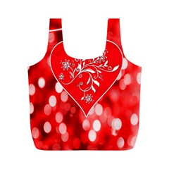Love Romantic Greeting Celebration Full Print Recycle Bags (m)