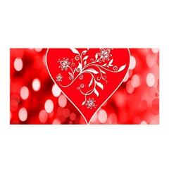 Love Romantic Greeting Celebration Satin Wrap