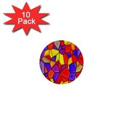 Mosaic Tiles Pattern Texture 1  Mini Buttons (10 Pack)
